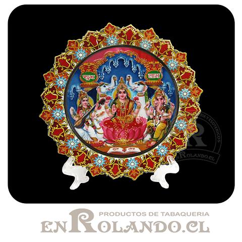 Plato Decorado 3 Dioses Hindú ($3.990 x Mayor)