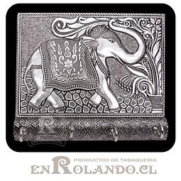 Porta Llaves Cubierta en Metal Labrado #04 ($7.990 x Mayor)