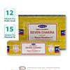 """Incienso Satya Nag Champa """" 7 Chacras"""" ($5.290 x Mayor)"""