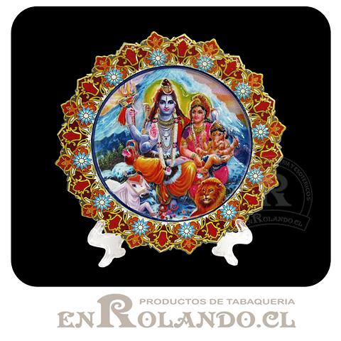Plato Decorado Ganesha y Familia en Relieve ($2.990 x Mayor)