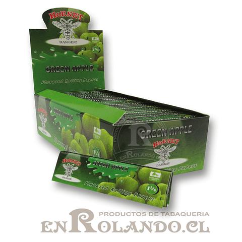 Papelillo Hornet sabor Manzana Verde 1 1/4 - Display