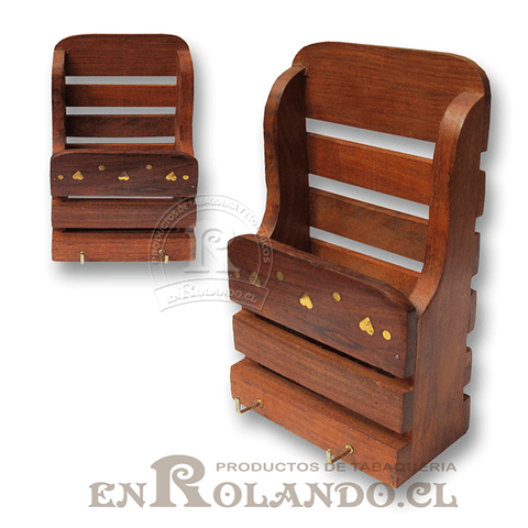 Porta Llaves / Documentos de Madera ($2.490)