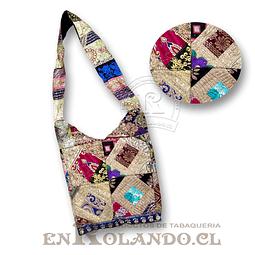 Bolso Artesanal Hindú tipo Pachwork ($9.990 x Mayor)