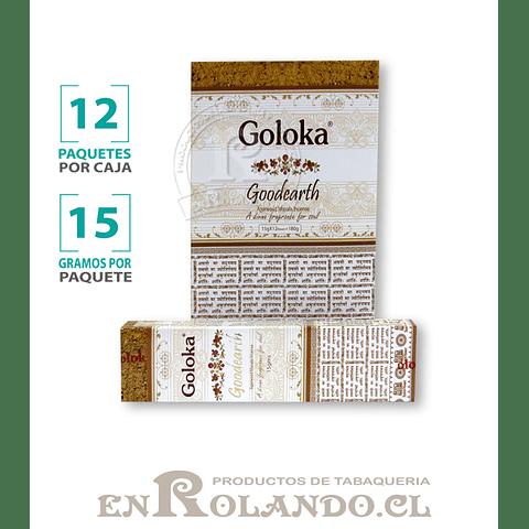 """Incienso Goloka """"Buena Tierra"""" - 12 Cajitas de 15 gr."""