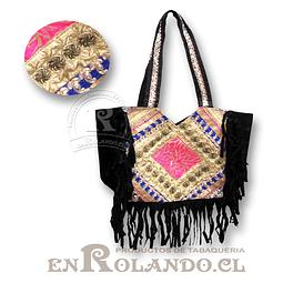 Bolso Artesanal Hindú Flecos ($9.990 x Mayor)