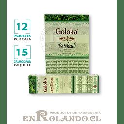 "Incienso Goloka ""Pachouli"" - 12 Cajitas de 15 gr."