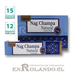 "Incienso Tulasi ""Nag Champa Natural"" - 12 Cajitas de 15 gr."