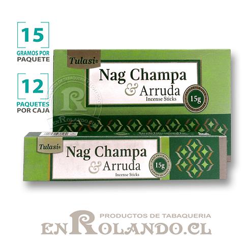 """Incienso Tulasi """"Nag Champa y Ruda"""" - 12 Cajitas de 15 gr."""