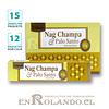 """Incienso Tulasi """"Nag Champa y Palo Santo"""" - 12 Cajitas de 15 gr."""