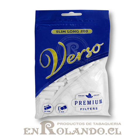 Filtros Verso Slim Long - Bolsa ($690 x Mayor)