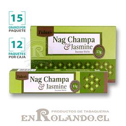 """Incienso Tulasi """"Nag Champa y Jasmín"""" - 12 Cajitas de 15 gr."""