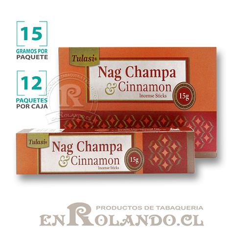 """Incienso Tulasi """"Nag Champa y Canela"""" - 12 Cajitas de 15 gr."""