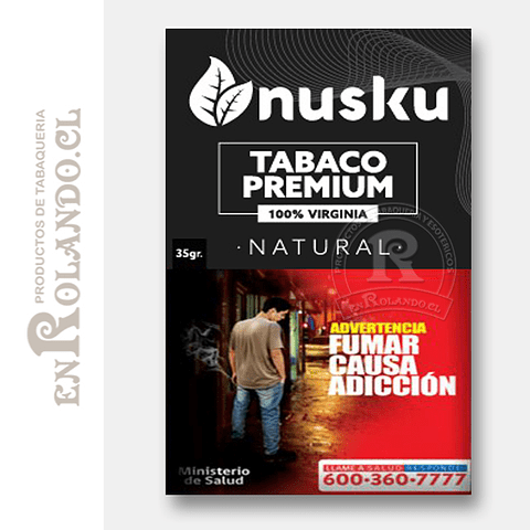 Tabaco Virginia Natural Nusku + Regalo ($3.490 x Mayor)