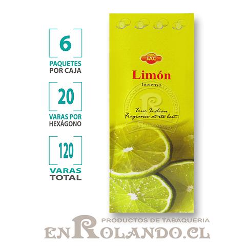 """Incienso SAC """"Limón"""" ($1.600 x MAYOR) - 120 varas"""
