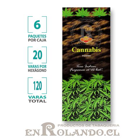"Incienso SAC ""Cannabis"" ($1.600 x MAYOR) - 120 varas"