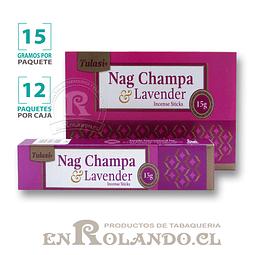 """Incienso Tulasi """"Nag Champa y Lavanda"""" - 12 Cajitas de 15 gr."""