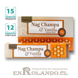 """Incienso Tulasi """"Nag Champa y Vainilla"""" - 12 Cajitas de 15 gr."""