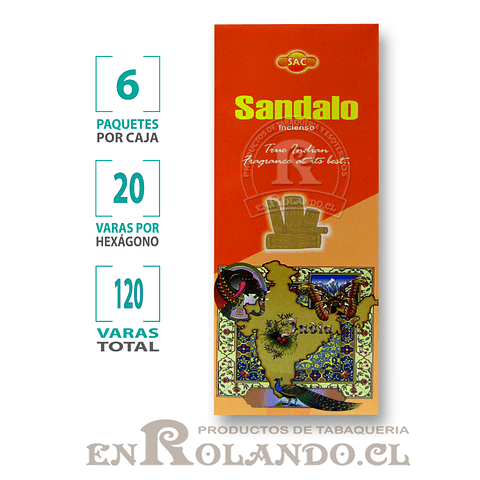 "Incienso SAC  ""Sándalo"" ($1.600 x MAYOR)- 120 varas"