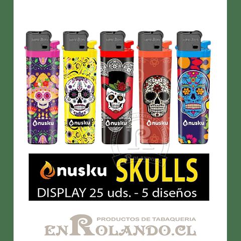 Encendedor Nusku Diseños 25 uds. - Display ($4.990 x Mayor)