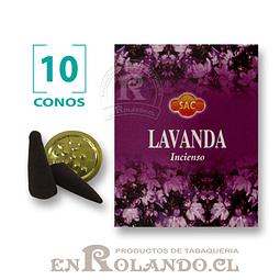 """Caja de 10 Conos Tradicionales """"Lavanda"""" ($415 x Mayor)"""