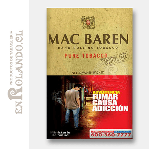 "Tabaco Mac Baren ""Pure Tobacco"" ($4.990 x Mayor)"