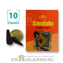 """Caja de 10 Conos Tradicionales """"Sándalo"""" ($415 x Mayor)"""