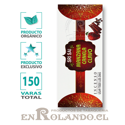 Incienso Orgánico Manzana-Canela-Clavo ($3.990 x Mayor)