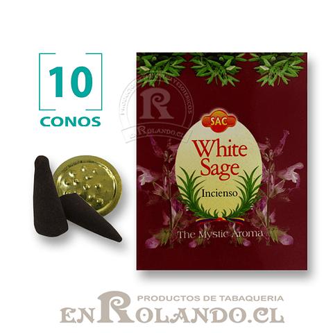 """Caja de 10 Conos Tradicionales """"Salvia Blanca"""" ($415 x Mayor)"""