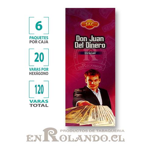 "Incienso SAC  ""Don Juan del Dinero"" ($1.600 x MAYOR) - 120 varas"