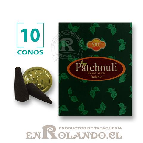 """Caja de 10 Conos Tradicionales """"Patchouli"""" ($415 x Mayor)"""
