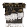 Porta Vela 3 Rostros Buda #33098 ($7.990 x Mayor)