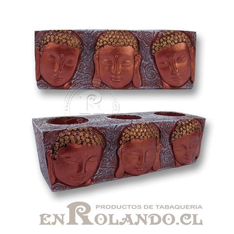 Porta Vela 3 Rostros Buda #7577-516 ($7.990 x Mayor)