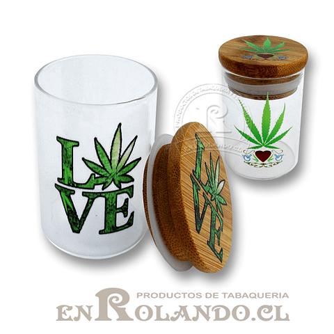 Tarro Hermético Bambú y Vidrio #3007 ($2.490 x Mayor)