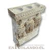 Porta Vela 3 Rostros Buda #7577-509 ($7.990 x Mayor)