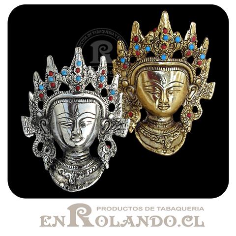 Rostro Buda Metal Decorado #401 ($4.990 x Mayor)