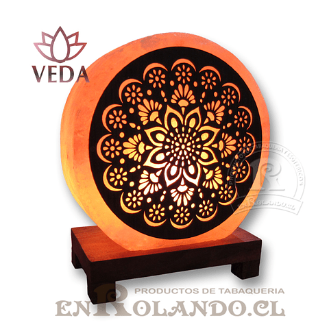 Lampara de Sal 3D Mandala ($24.990 x Mayor)
