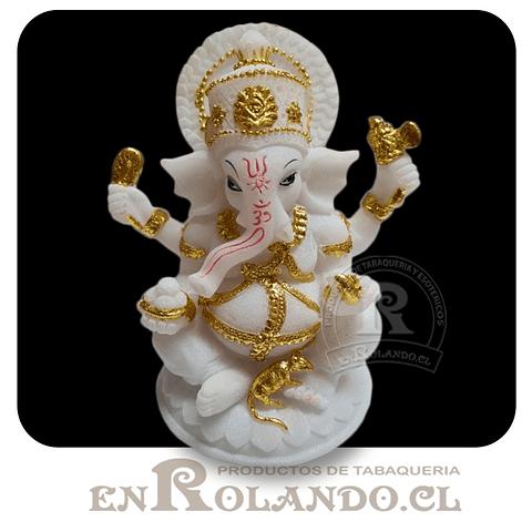 Ganesha Blanco y Dorado #5993 ($9.990 x Mayor)