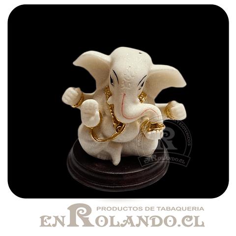 Ganesha Blanco y Dorado #5990 ($4.990 x Mayor)