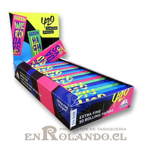 Papelillos Gizeh #420 (Extra Fine) 1 1/4 - Display
