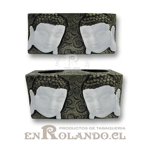 Porta Vela 2 Rostros Buda #33073 ($6.990 x Mayor)