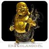 Buda Sonriente Dorado #7577-82 ($3.990 x Mayor)