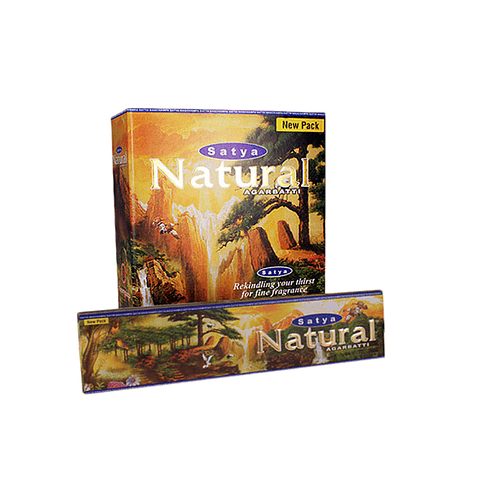 Incienso Satya Natural - 12 Cajitas de 15 grs