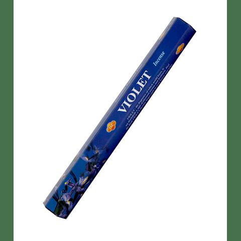 "Incienso SAC  ""Violeta"" Caja de 6 Hexágonos  - 120 varas"