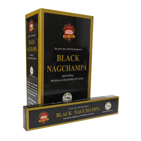 Incienso Black Nag Champa - 12 Cajitas de 15 grs