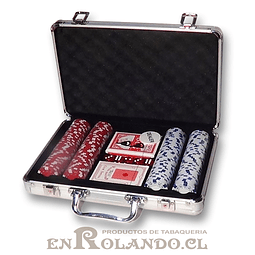 Set Maleta Poker 200 Fichas ($17.990 x Mayor)