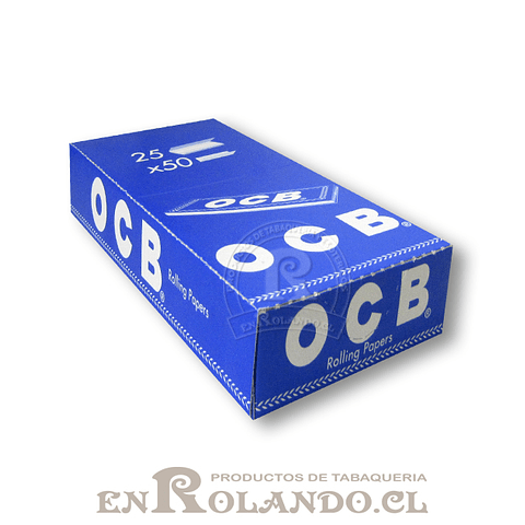 Papelillos OCB Azul #1 - 25 libritos - Display