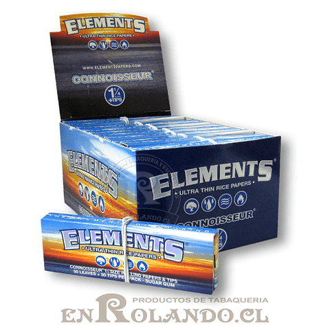 Papelillos Elements 1 1/4 + Tips (Connoisseur) - Display