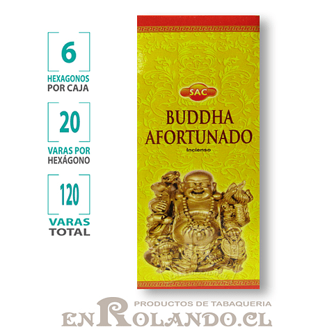 "Incienso SAC  ""Buddha Afortunado"" - 120 varas"