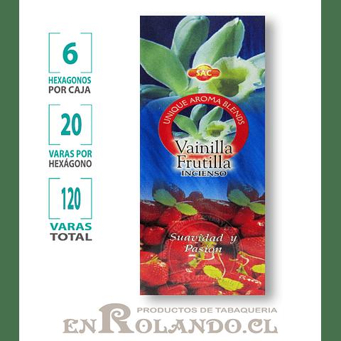 "Incienso SAC  ""Vainilla - Frutilla"" ($1.600 x MAYOR)- 120 varas"
