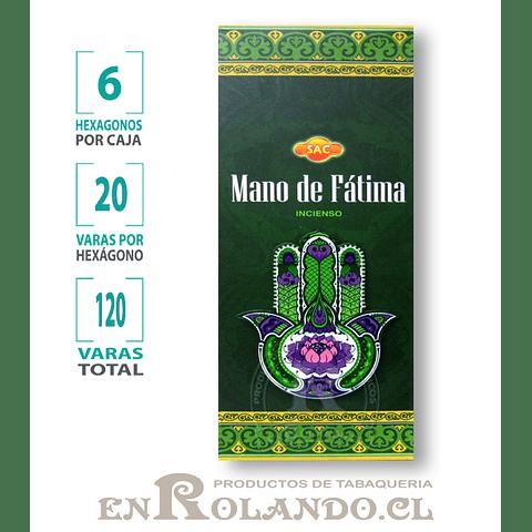 "Incienso SAC ""Mano de Fátima"" ($1.600 x MAYOR)- 120 varas"